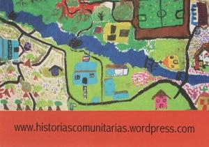La tarjeta postal con información sobre el proyecto
